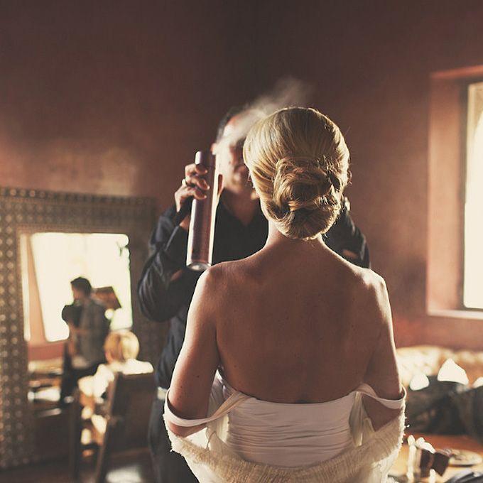Full Bun for a Morracan Wedding. A Sophisticated Bun for a Moroccan Destination Wedding…