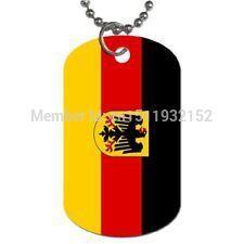 Пользовательские Германии Флаг Dog Tag дешевые печати флаг dog tag ожерелье низкая цена специальная металлическая бирка собаки ожерелье