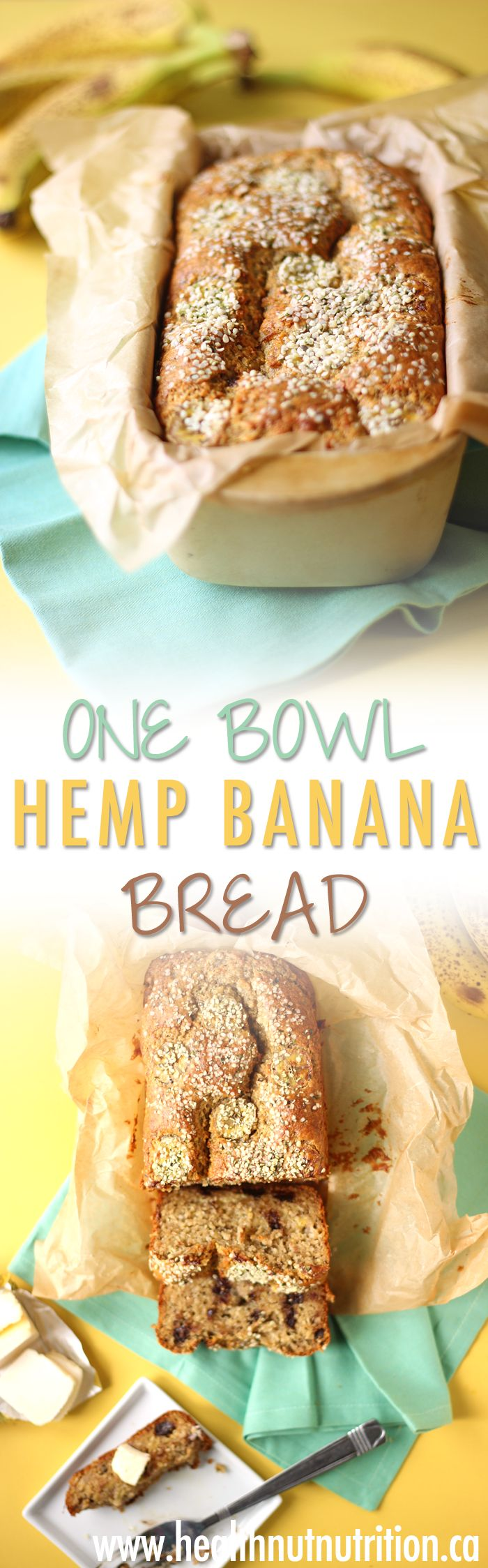 One Bowl Hemp Banana Bread | 2 WAYS - Healthnut Nutrition