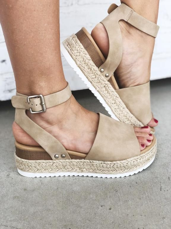 7b6d7aa402215 Topic-Nude. Nude espadrille platform sandal with ankle buckle. Nude ...