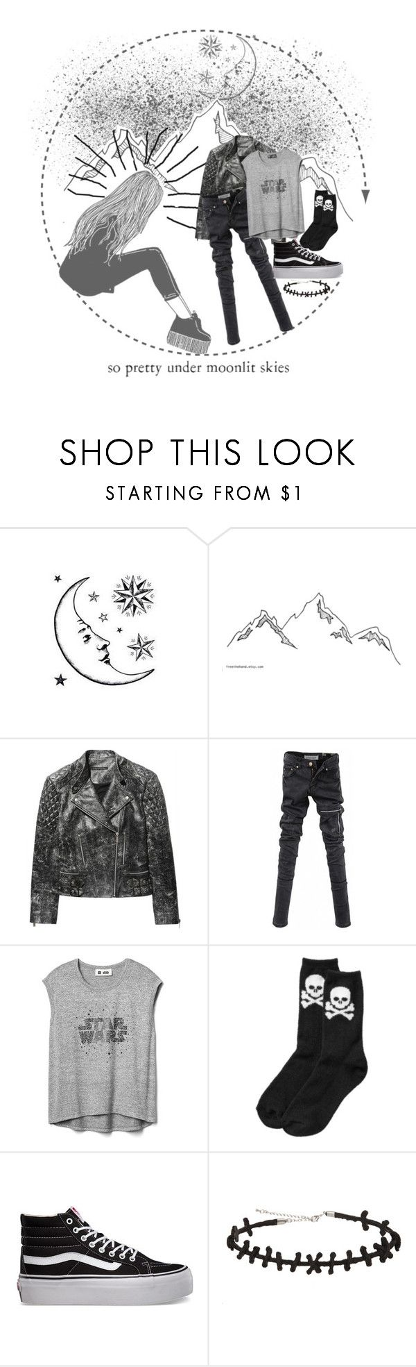 """""""Untitled #387"""" by eveningouttoyourgrave ❤ liked on Polyvore featuring Christopher Kane, Eurø Style, Gap, Old Navy, Vans and Hot Topic"""
