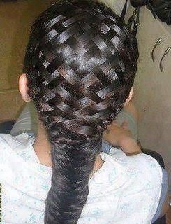 Beautiful basketweave to fishtail braid