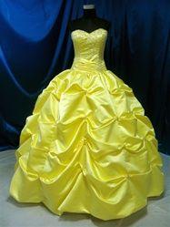 Yellow Wedding Dress from WeddingDressFantasy.com #beauty #and #beast #belle