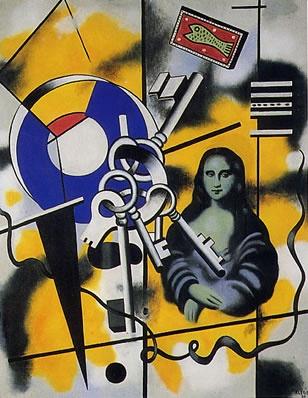 La Gioconda Con Le Chiavi Fernand Lège 1930 Museo Fernand Lèger Biot Gioconda Mona Lisa Obras De Arte Contemporánea