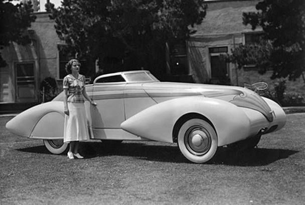 Actress Betty Furness Standing By The Car Built For The