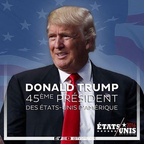 Donald Trump eleito o 45º Presidente dos Estados Unidos. Mais informações no link a seguir>> tv5m.tv/USA2016