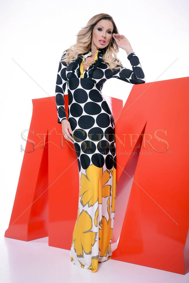 MissQ Bold Hearted Yellow Dress