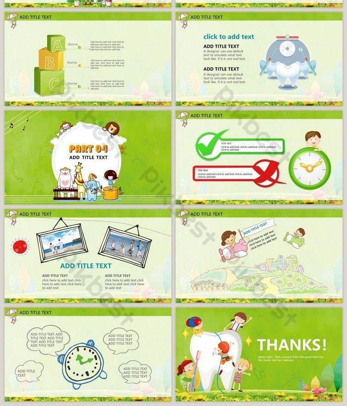 Template Ppt Pencegahan Dan Perlindungan Kesehatan Gigi Anak Anak Powerpoint Templat Pptx Unduhan Gratis Pikbest Templates Powerpoint Format Dental Kids