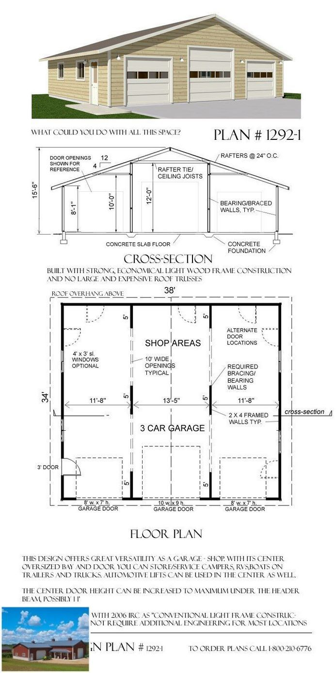 How To Create Your Own Garage Workshop With Images Garage Plans 3 Car Garage Plans Garage Design
