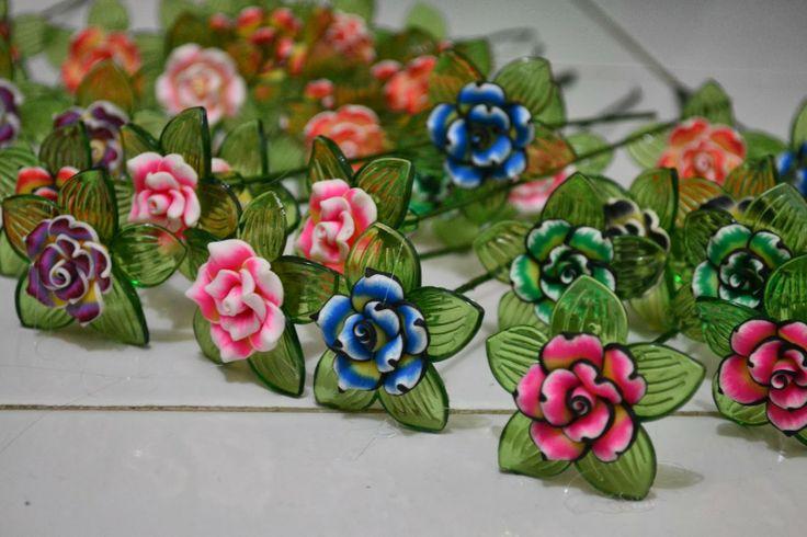 Mamika Extra Conner: Mix blossom acrylic