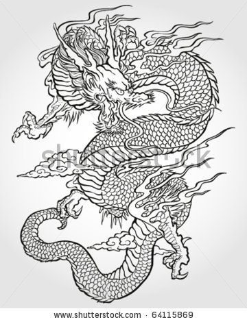 Best 25 chinese dragon drawing ideas on pinterest chinese tradition asian dragon illustration buy this stock vector on shutterstock find other images ccuart Images