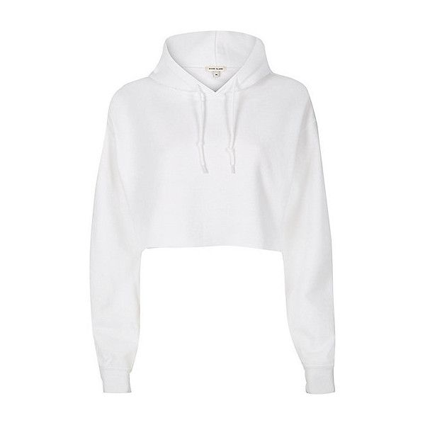 White cropped hoodie ❤ liked on Polyvore featuring tops, hoodies, hooded sweatshirt, white hoodie, white hooded sweatshirt, long sleeve hooded sweatshirt and white crop top