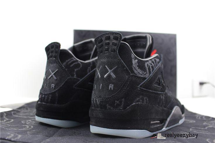 Authentic Air Jordan 4 Kaws Black