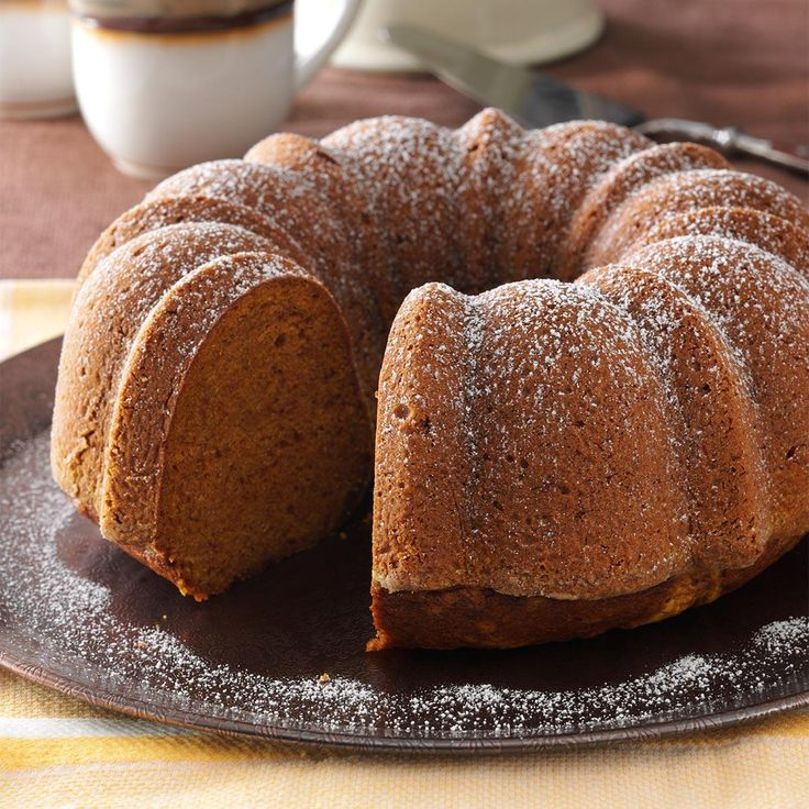 Moist Pumpkin Bundt Cake Recipe -This cake is perfect for fall. As it bakes, the aroma fills the house with a spicy scent. —Virginia Loew, Leesburg, Florida