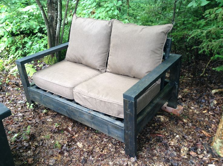 We built our own out door couch.