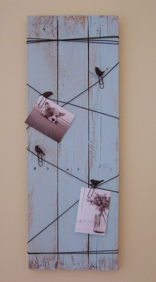 I would like something like this in the dining room ♥ birds on a wire pallet project