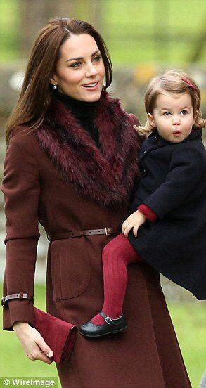 William and Kate take Prince George, Princess Charlotte to church #dailymail