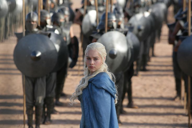 Daenerys, First of Her Name, of House Targaryen, Queen of the Andals and the First Men, Khaleesi of the Great Grass Sea, Daenerys Stormborn, Mother of Dragons...at the end of Season Three, Episode Four...Bad-Ass Lady.