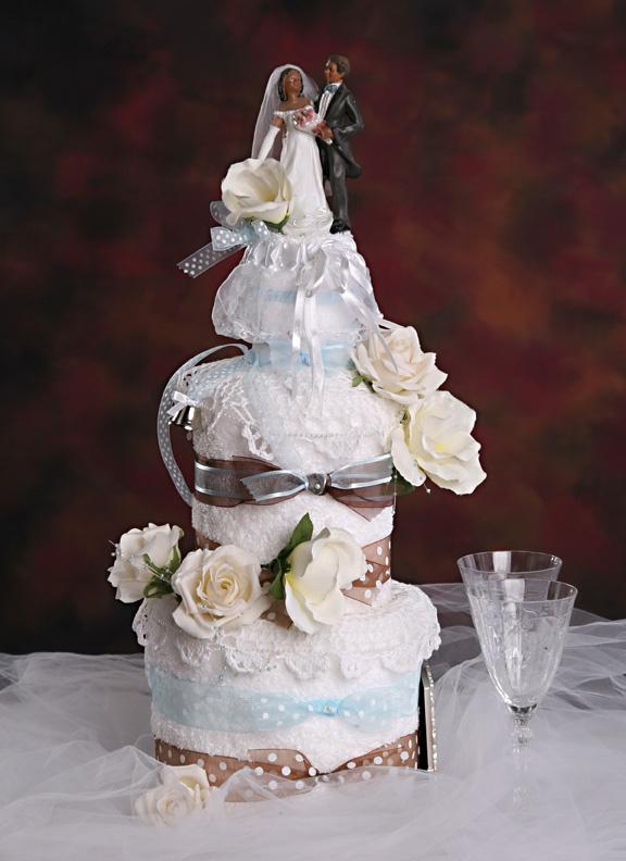 Wedding Towel Cake | Wedding Towel Cakes, Bridal Towel Cakes, Bridal Shower Towel Cakes ...