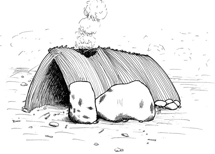Depiction of a Terra Amata hut in Nice, France as postulated by Henry de Lumley dated to 400 thousand years ago. Shelter construction has been discovered in Japan dating back to 500 thousand years ago.[  Terra-Amata-Hut - Acheulean - Wikipedia, the free encyclopedia