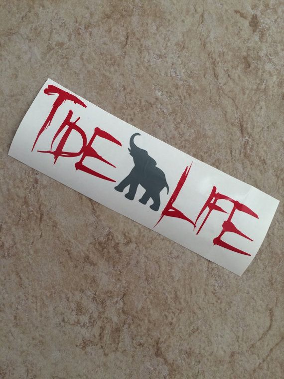 Vinyl Alabama Car Decal With Elephant-Roll Tide-AL-Elephant-Houndstooth-Rammer Jammer-Football-Grey-Crimson Tide