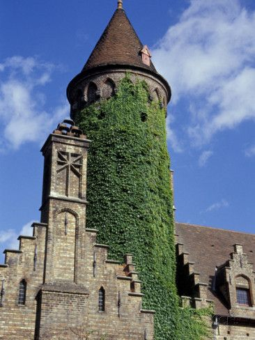 Ivy-Covered Medieval Tower on Church of Our Lady ~  Bruges, Belgium