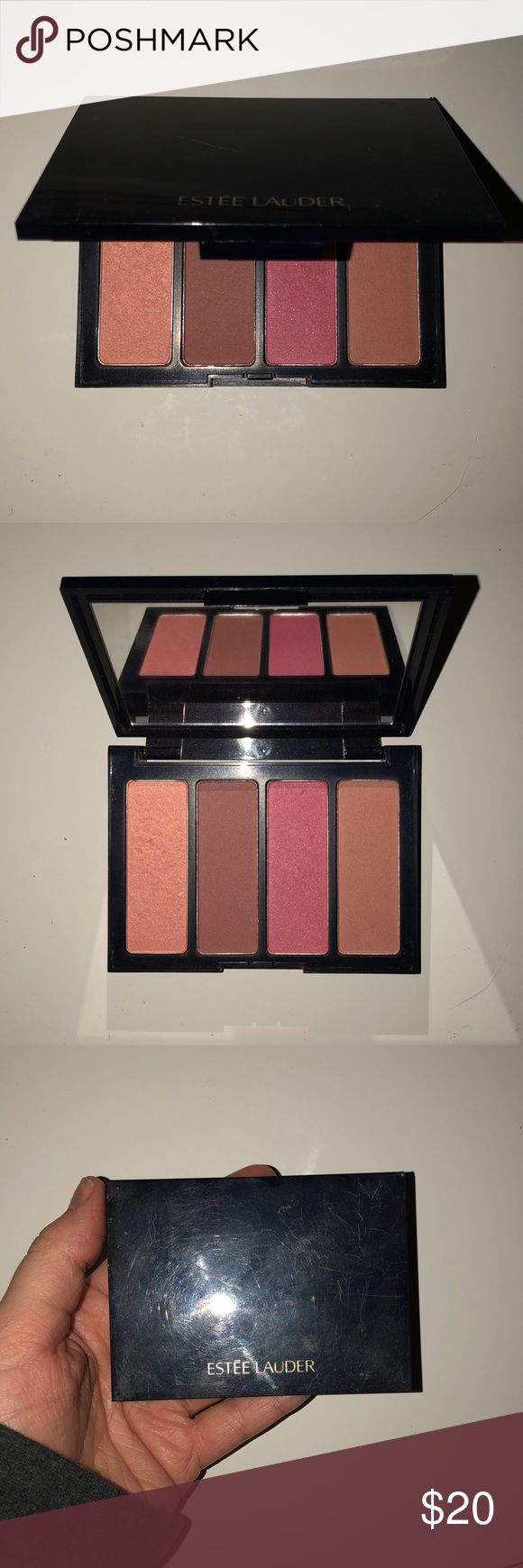 Estée Lauder blush, eyeshadow, and lipstick bundle Barely used Estée Lauder palettes. One blush and two eyeshadow. Scratches are from being in a make up bag,  but these have only been tested. Lipstick has never been touched. Open to offers! Estee Lauder Makeup