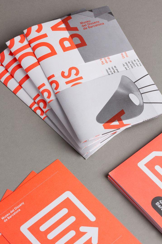 DHUB leaflet with fluorescent orange ink detail designed by Lo Siento Studio. #Print #Design #Fluorescent