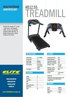 $1000 Off HS12.55 Treadmill at Elite Fitness Equipment Highpoint,gumtree