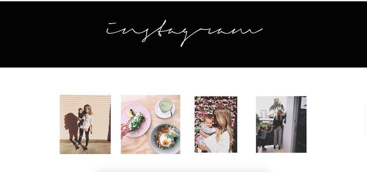 The Gratitude Project | Website Instagram Feed Design