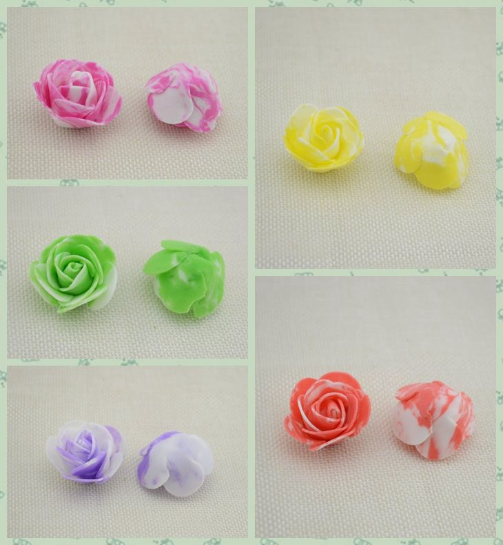 Murah 10 PCS PE Busa warna Rose Kepala Buatan Bunga Mawar Buatan Tangan DIY Pernikahan Dekorasi Rumah Meriah & Party Supplies 3.5 cm