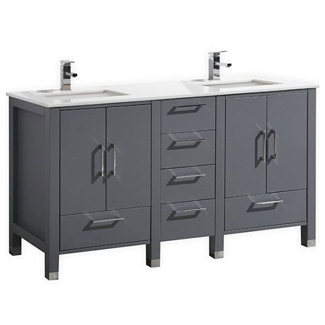 Website Picture Gallery  inch Double Sink Bathroom Vanity TG