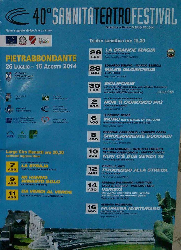 40° Sannita Teatro Festival - Estate 2014 - Pietrabbondante (Campobasso)