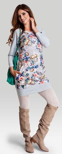 Flo dress хлопковое платье в цветочный узор для беременных и кормящих