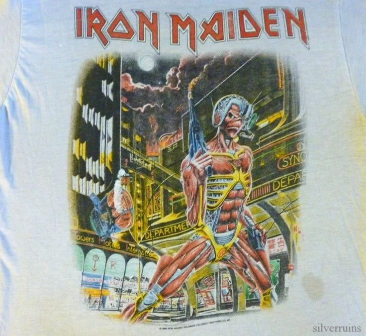 IRON MAIDEN Vintage Concert SHIRT 80's TOUR T Somewhere In Time 1986 #SpringFordSportswear #GraphicTee