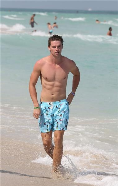 Patrick Schwarzenegger. Like the son of the Terminator!??!?!? daaammmmnnn