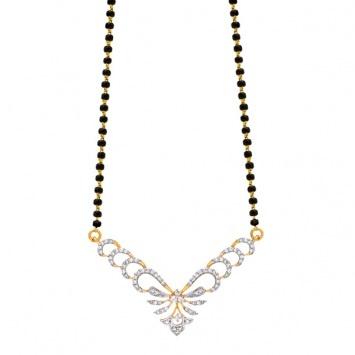 Arshia #diamond #gold #mangalsutra