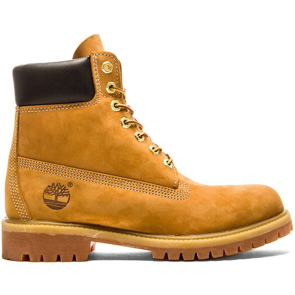"Timberland 6"" Nubuck (235 CAD) ❤ liked on Polyvore featuring men's fashion, men's shoes, men's boots, boots, mens lace up boots, mens waterproof boots, mens water proof boots, mens nubuck shoes and timberland mens boots"
