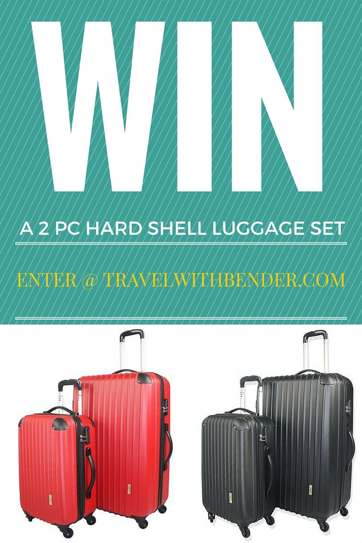 """Crazy Sales are giving away 2 sets of 2-Piece Hard-Shell Luggage. Each set includes a 28"""" and a 20"""" suitcase with 4 smooth 360-degree swivel wheels and retractable handle."""