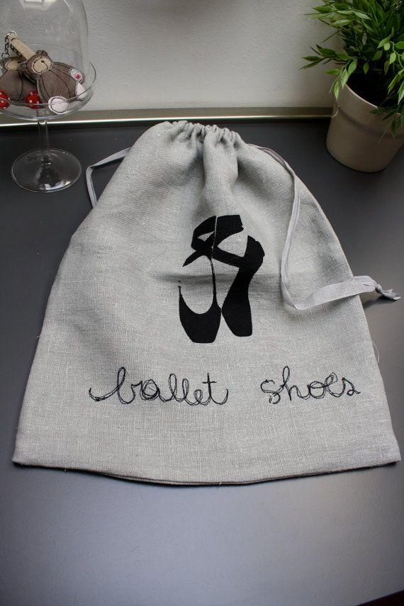 Sacchetto per scarpe con scarpette da ballo