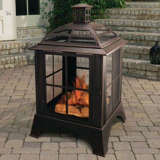 Chesterfield Wood Burning Fireplace in Rubbed Bronze