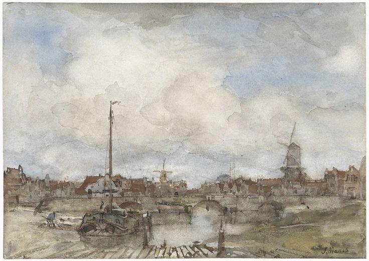 Gezicht op een stad, Jacob Maris, 1847 - 1899