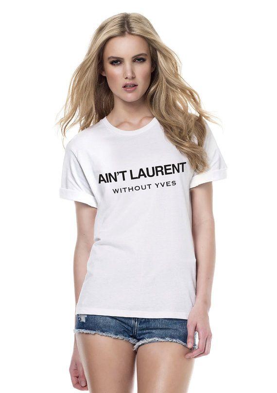 Ysl Logo T Shirt Women