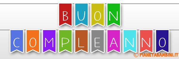Striscione Buon Compleanno Bandierine
