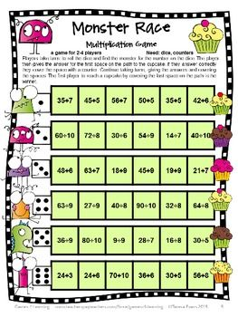 FREEBIE - Division Games from by Games 4 Learning. Contains 2 printable NO PREP Division Games