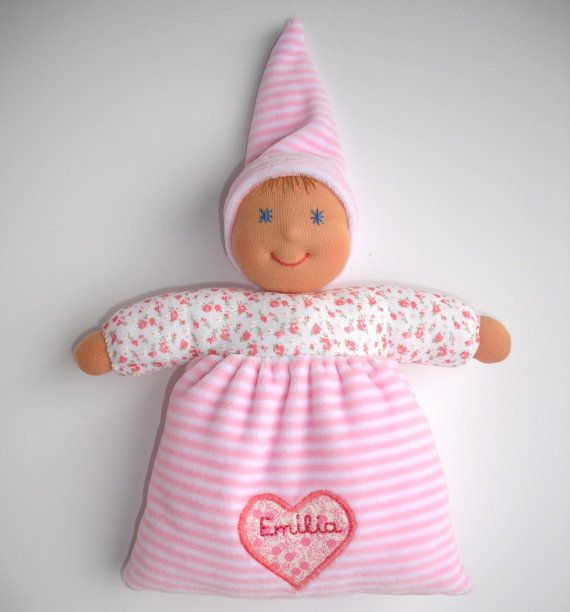 Personalized Waldorf soft baby doll First by WaldorfDollsByIren