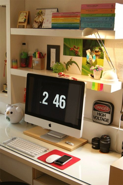 40 grandiosos escritorios de trabajo para inspirarte   Interiores