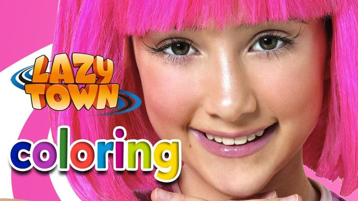 Lazy Town ❤   STEPHANIE - Coloring game - YouTube