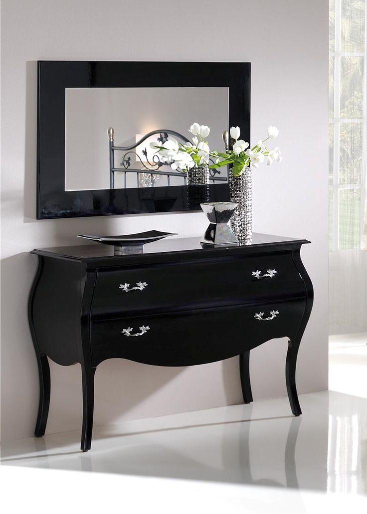 Kommode i tre, modell C-93 svart. www.mirame.no #kommode #hus #hjem #sort #svart #speil # ...