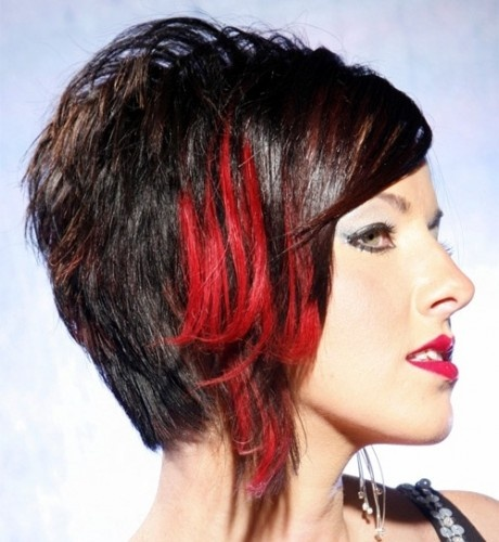 Red Highlights for Black Hair Pictures